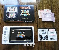 Nintendo Pinball Game & Watch Pb-59 1982 En Très Bon État