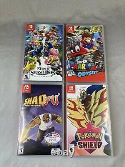 Nintendo Switch Bundle -système, 4 Jeux, Contrôleurs, Chargeur -bon État