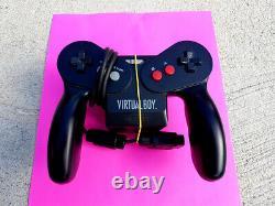 Nintendo Virtual Boy Console Avec Wario Land Cib Très Bon État