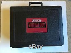 Nintendo Virtual Boy Console Rare Blockbuster Cas! Rare Bon État