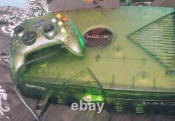 Original Microsoft Xbox Console Halo Édition Spéciale Vert Bon État