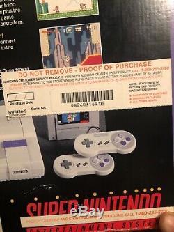 Original Super Nintendo Super Mario All Stars Coffret En Bon État