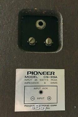 Pioneer S-33a, Cru, Haut-parleurs, 1 X Paire, Utilisé, Bon État