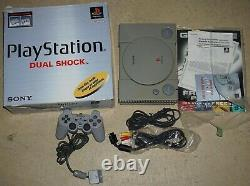 Playstation 1 Ps1 Dual Shock Console Complete In Box Scph-7501 #31 Good Shape