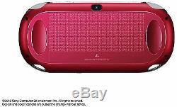 Playstation Ps Vita Console Wi-fi Modèle Rouge Pch-1000 Za03 Japon Bon État