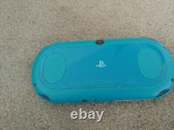 Playstation Ps Vita Slim LCD 2000 Aqua Blue 3.60 Fw Bon État