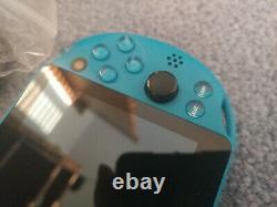 Playstation Ps Vita Slim LCD 2000 Aqua Blue 3.60 Fw Bon État 256 Go