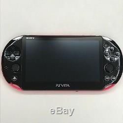 Playstation Vita Modèle Wi-fi Rose / Noir Pch-2000 Za15 Sony D'occasion Condition Bon