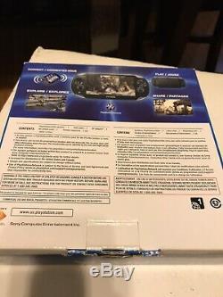 Playstation Vita Ps-1001 Oled Noir 3.68 Fw Bon État En Boîte De Jeu Et 4gb