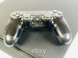 Ps4 Sony Playstation 4 Slim 500 Go Console Matte Black Good Condition