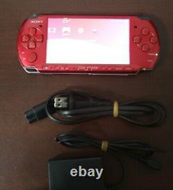 Psp-3000 Console Rouge Bon État International Playstation Portable Système