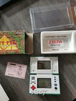 Rare Nintendo Game & Watch Zelda Zl-65 Multi Écran 1989 Très Bon État