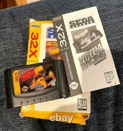 Sega 32x Avec Virtua Racing Jeu (boîte Et Livre) Bon État, S'allume
