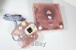 Sega Bonjour Kitty DC Set Skeleton Rose Dreamcast Jeu Vidéo Utilisé Bon État
