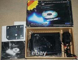 Sega CD Modèle 1 Console Système Complète Dans La Boîte N ° 58 Bonne Forme