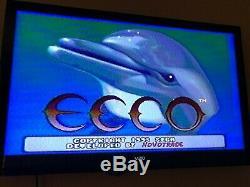 Sega Genesis CD Modèle 2 Système Complet Console Bon État Utilisé 3 Jeux