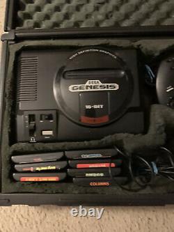 Sega Genesis Modèle 1 Hi Def Avec Cas De Voyage En Bon État! Complet