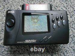 Sega Genesis Nomad Avec Battery Pack Testé Et Joue Très Bien! Très Bon État