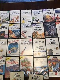 Sega Master System Lot De 43 Jeux Et Cartes Sega En Bon État