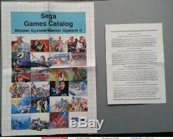 Sega Master System Masters Of Combat Boxed Cib Très Bon État Rare ++