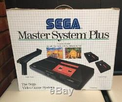 Sega Master System Plus Avec 12 Jeux Boxed Uk Pal Console Bon État