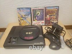 Sega Mega Drive Console System Japan Good Condition + Jeux