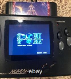 Sega Nomad Genesis Avec Nouvel Écran LCD Tft, Condensateurs Et Verre. Bon État