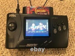 Sega Nomad Genesis Handheld En Bon État De Fonctionnement Avec Alimentation Oem