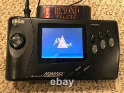 Sega Nomad Genesis Portable En Bon État De Fonctionnement Avec Alimentation Oem