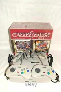 Sega Saturn Console Blanc Boxed Très Bon État Testé En Provenance Du Japon G0020