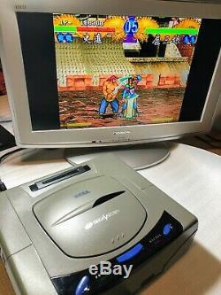 Sega Saturn Console Hst-3200 Gris Très Bon État Box Testé Japon