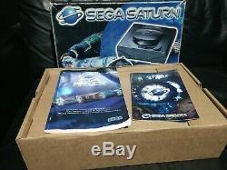 Sega Saturn Console Mk 1 Boxed Bon État Voir Pics Pal
