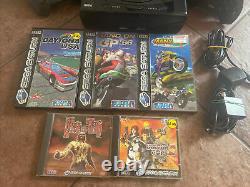 Sega Saturn Console Paquet Lot Full Set Tested Bon État Avec Les Jeux