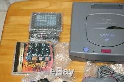Sega Saturn V-rg-jx2 (2) Très Bon État, 2 X Contrôleurs + Jeux (12341569)