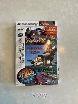 Sega Saturne Console Complete En Boîte Très Bon État Sampler Version