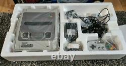 Snes Super Nintendo Starwing Console Édition Boxed Très Bon État