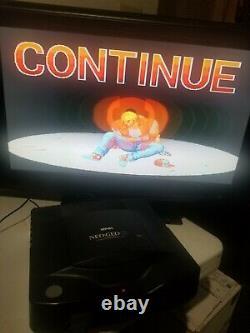 Snk Neo Geo CD Console System Avec Lot 4 Jeux Bon État Fonctionne