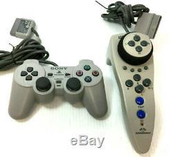 Sony Playstation 1 Système De Jeu Vidéo Console Complète Dans L'encadré Rouge Ps1 Bonne Forme