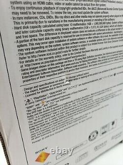 Sony Playstation 3 120 Go Slim Nouveau Scellé Cech-2001a Ntsc Us Bon État