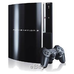 Sony Playstation 3 80 Go Piano Noir Console Très Bon État