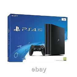 Sony Playstation 4 Pro 1 To Console Noir (ps4 Pro) Bon État Boxed K24