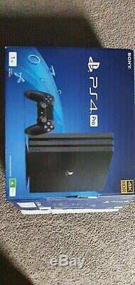 Sony Playstation 4 Pro Jet Black 1000 Mo Console Utilisé, Mais Bon État