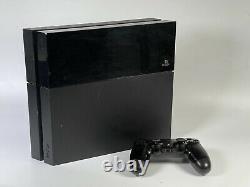 Sony Playstation 4 Ps4 500 Go Jet Black Console Avec Contrôleur Bon État