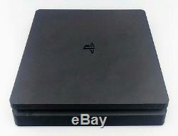 Sony Playstation 4 Ps4 Slim Console 500go Cuh-2215b Jet Black Bonne Forme