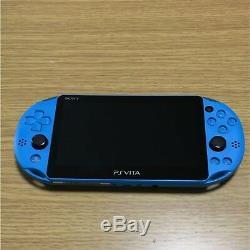 Sony Playstation Vita Pch-2000za23 Série Aqua Blue Par Sony Bon État