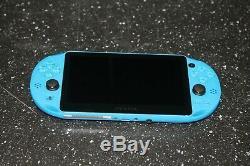 Sony Playstation Vita Ps Slim Pch-2001 Bleu Utilisé Très Bon État