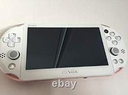 Sony Ps Vita Pch-2000 Slim Rose Clair / Blanc Avec Chargeur En Bon État