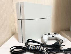 Sony Ps4 Playstation 4 Glacier Blanc Cuh-1200ab02 Console 500 Go Bon État