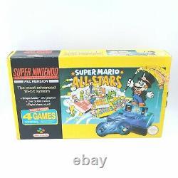 Super Console Nintendo Snes Boxed Pal Mario All Stars Ed. Très Bon État