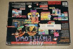 Super Nintendo Snes System Control Set Console Complete In Box #205 Good Shape